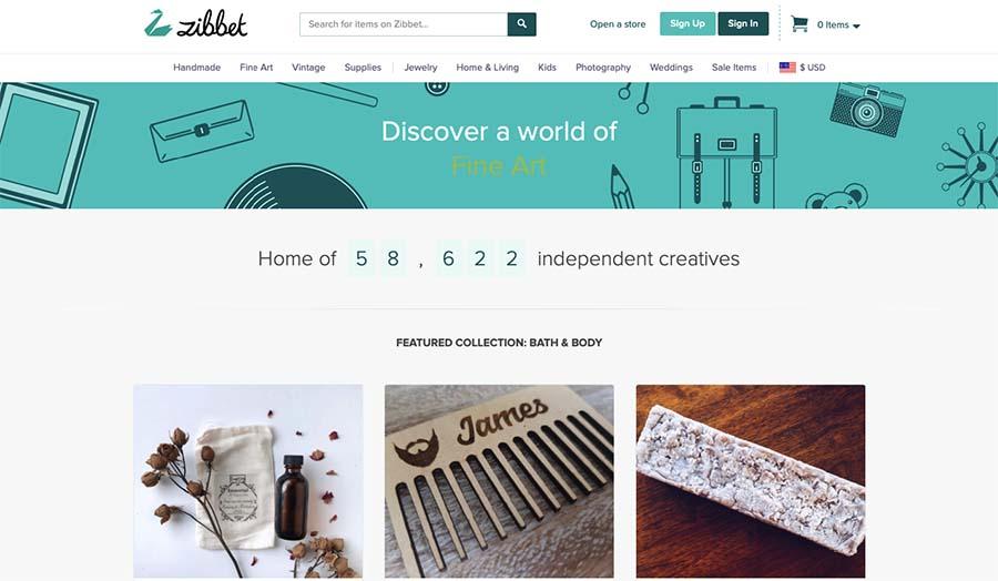 Zibbet selling eBay Alternatives website