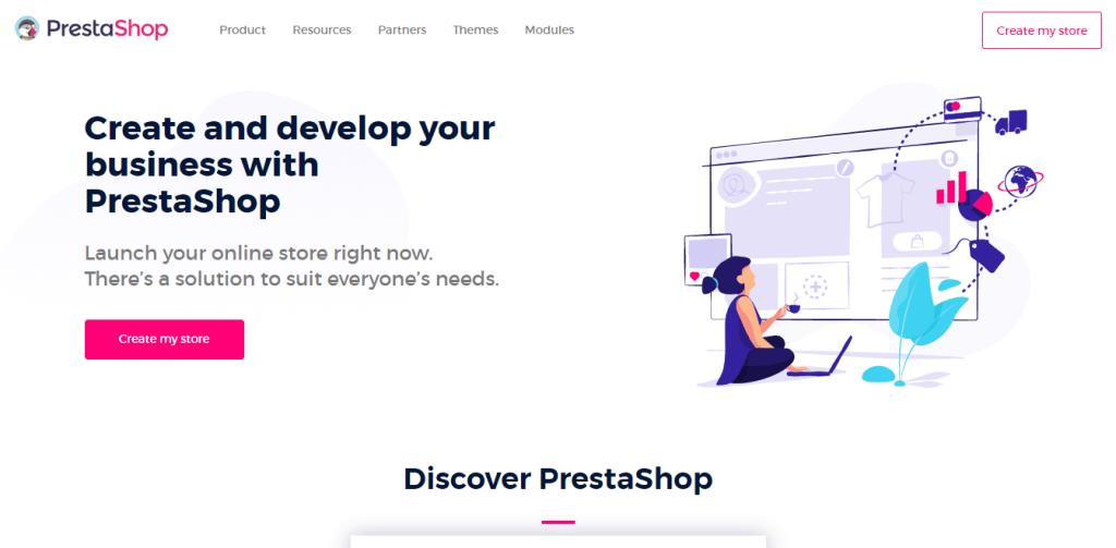PrestaShop vs WooCommerce: PrestaShop Official Home Page