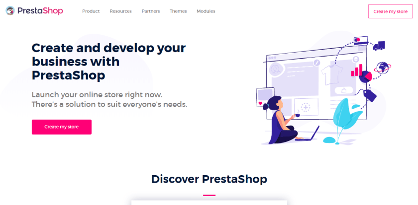 PrestaShop vs WooCommerce: PrestaShop Official Home Page