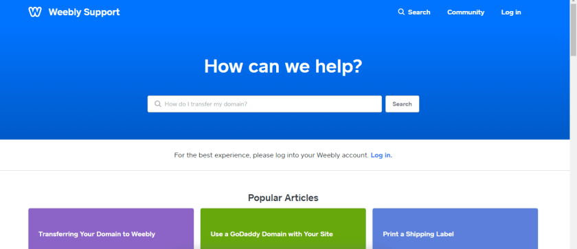Weebly Help and Support