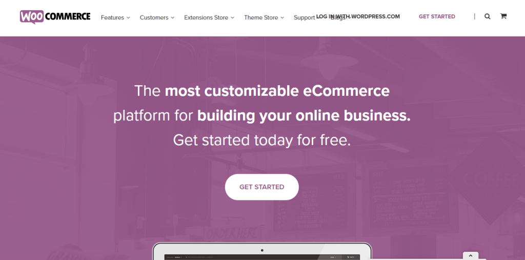 PrestaShop vs WooCommerce: WooCommerce Official Home Page