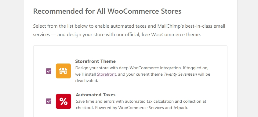 WooCommerce Recommended Pages