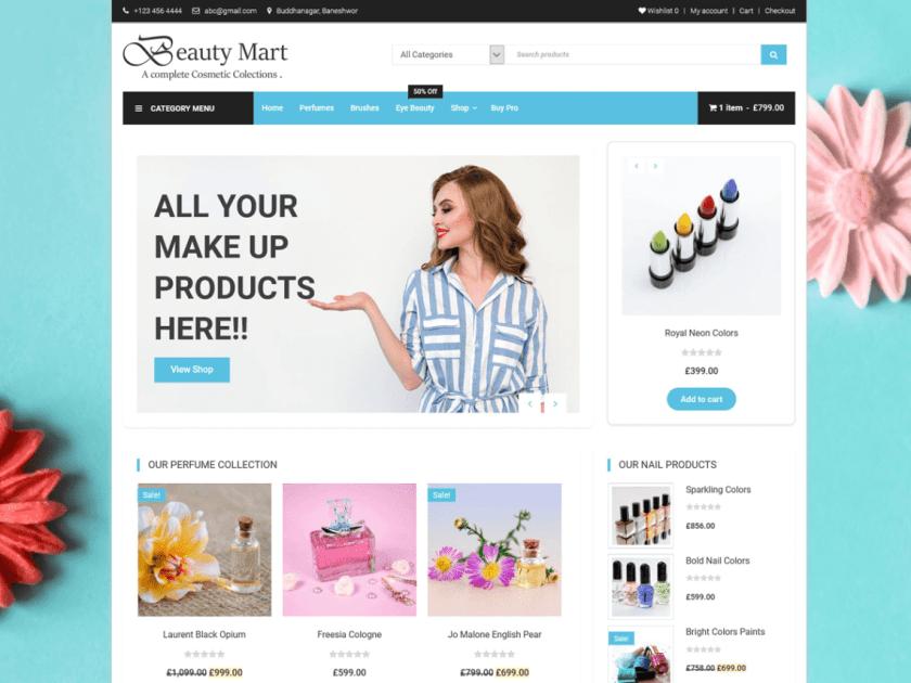 Beauty Mart WordPress Theme