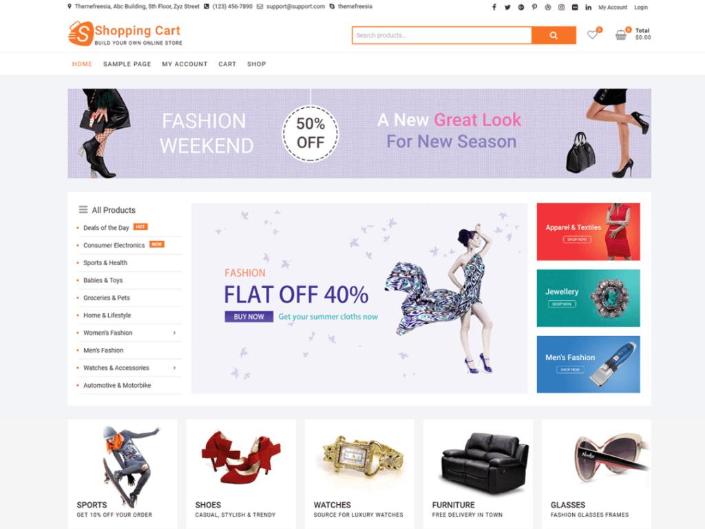 ShoppingCart WordPress Theme