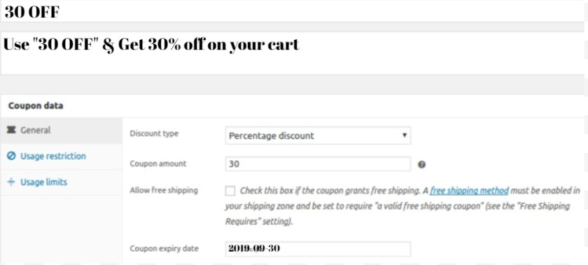 Create Percentage Coupon Code