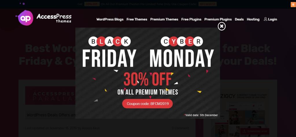 AccessPress Themes Black Friday Deals