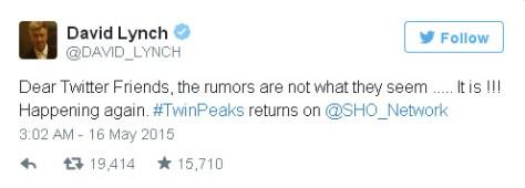 david lynch twin peaks tweet copy