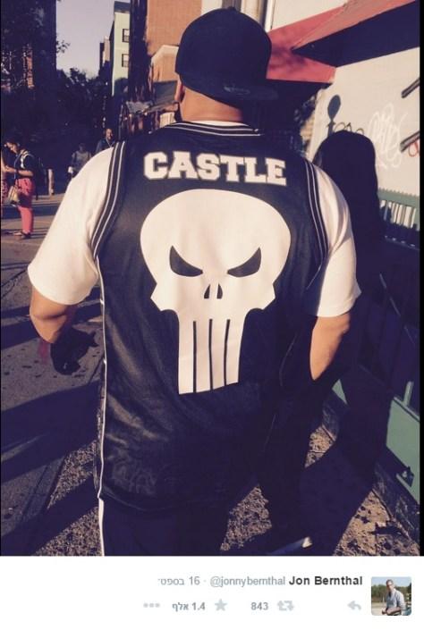 Jon Bernthal Wears The Punisher Skull Logo