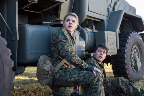 "Nick Robinson, left, and Chloë Grace Moretz star in Columbia Pictures' ""The 5th Wave."""