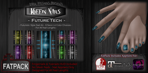 Dark Passions - Koffin Nails - Fatpack - Future Tech