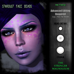 The Stringer Mausoleum - Stardust Face Beads - Cosma