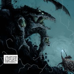 Abe Sapien: The Shape of Things to Come (A Mayan Shaman Fighting Cipactlhem)