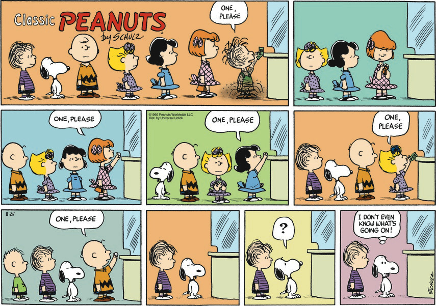 Peanuts Movie Theater Line Schulz