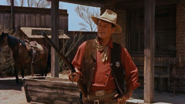 John Wayne's pink shirt