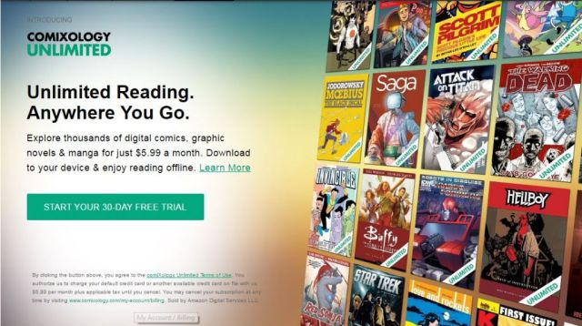 comixology unlimited home