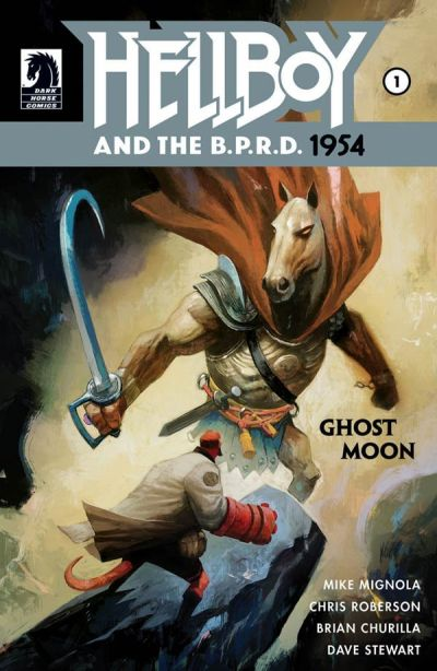 """Hellboy and the B.P.R.D.: 1954—Ghost Moon"" #1 (cover)"