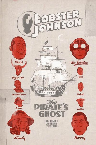 """Lobster Johnson: The Pirate's Ghost"" #1 (cover)"