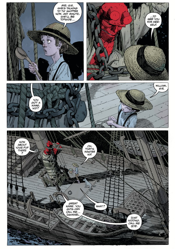 """Hellboy: Into the Silent Sea"" preview page 2"