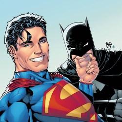 Detail of Batman/Superman #14 selfie cover by Paulo Siquiera
