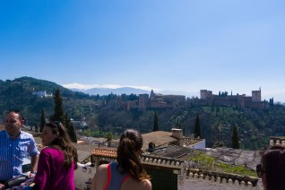 The Mirador de San Nicolas: supposedly the best view of the Alhambra in town. It was certainly the most crowded.