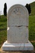 """Julia Etta Piercy, died 1870, age 2. """"Too sweet a flower to bloom on Earth // She is gone to bloom in Heaven"""""""