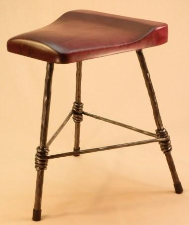 3 Legged Stool with Purple Heart Seat