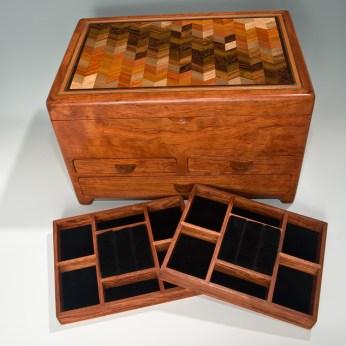 Box by Mark Mallia: 3 Drawers, parquet top