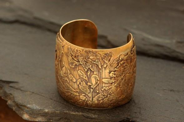 Layered Brass Cuff