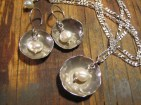 Pearl Bowls, Earrings & Necklace