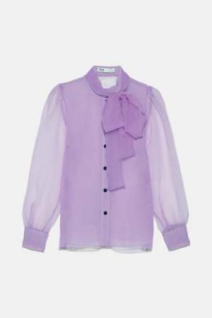 Lilac Organza Blouse