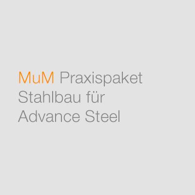 MuM Praxispaket Stahlbau für Advance Steel