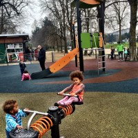 Playground in a park in Turin