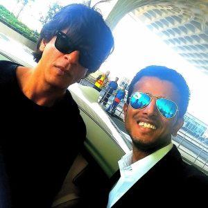 Faraaz Kazi and Shah Rukh Khan