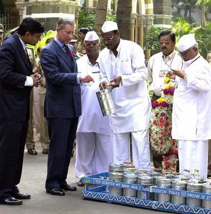 Prince Charles Meet Mumbai Dabbawala