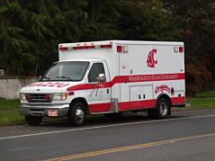 WSU Van of some sort, as seen in Seattle