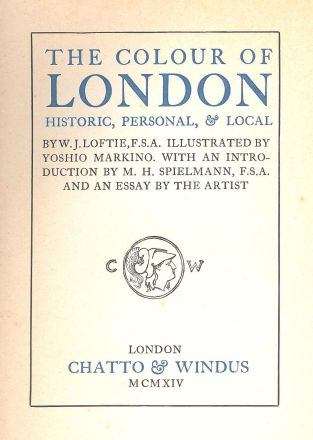 Title Page -The Colour of London 1914 Edition