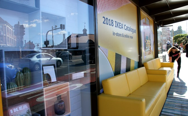 Ikea Has Installed Full Size Sofas At Sydney And Perth Bus