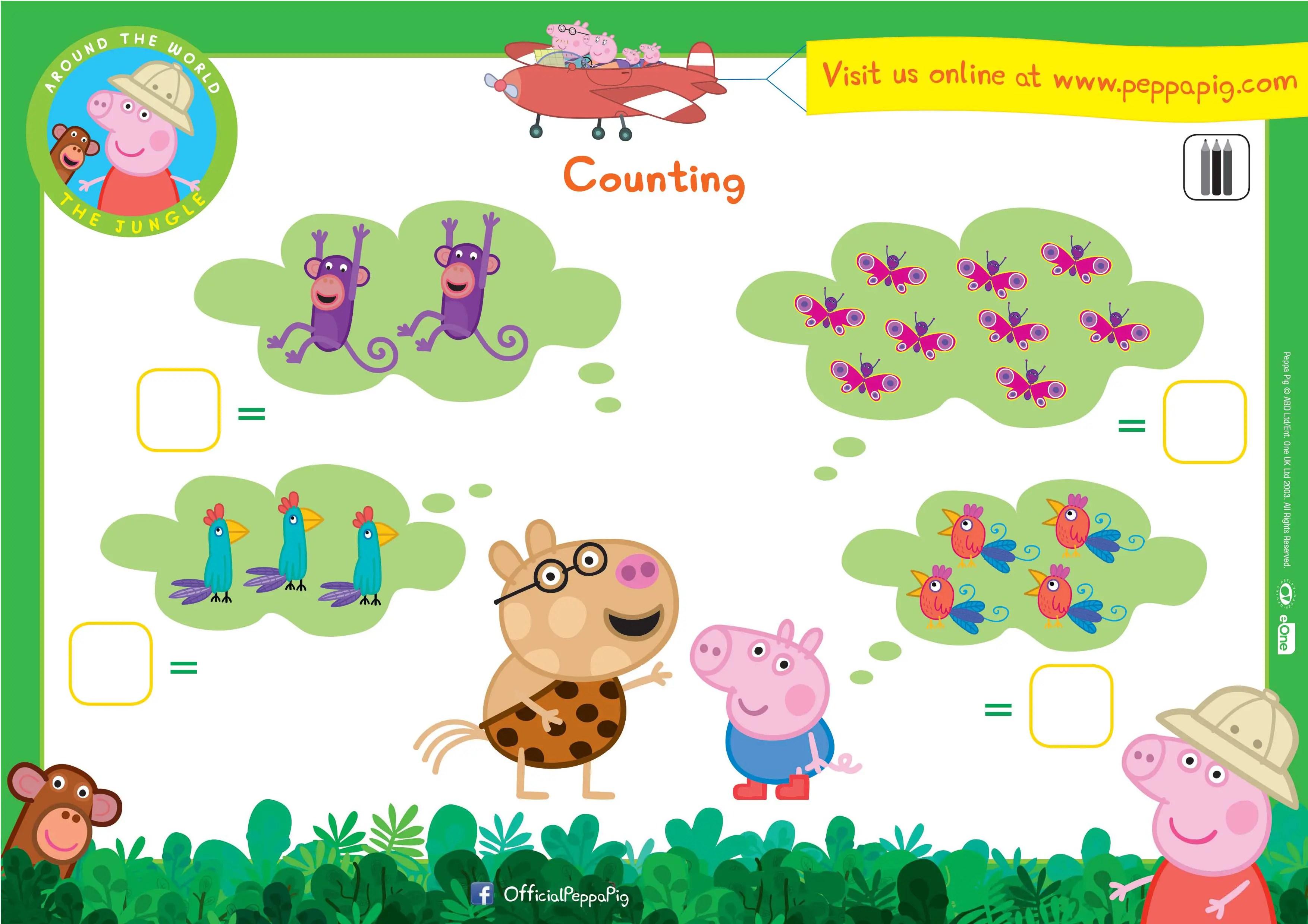 Peppa Pig Downloadable Activity Sheets