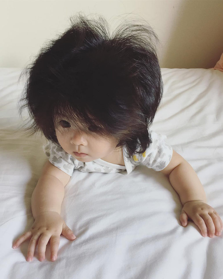 this crazy hair baby