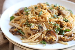 Vegan Mushroom Tetrazzini