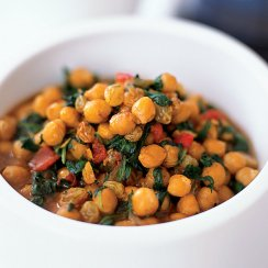 Ninja foodi chickpea and spinach stew