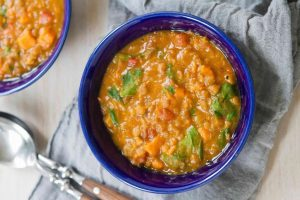 Ninja foodi Sweet Potato Lentil Soup