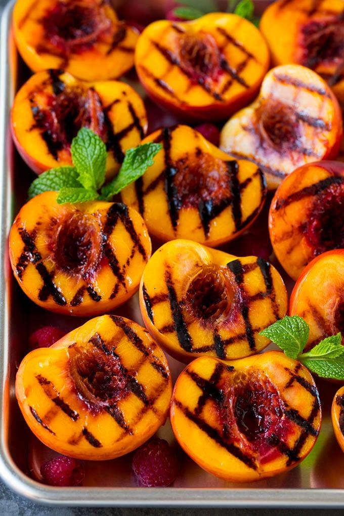 Ninja Foodi Grill Peaches
