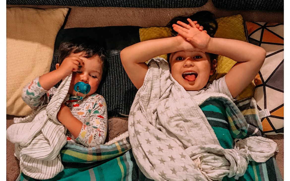 siblings lying down MAKE YOUR MORNINGS MORE PRODUCTIVE