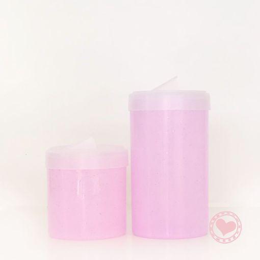 tarros glitter rosa set matero mumi diseño divertido