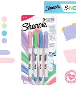 sharpie s-note por 4 pasteles mumi diseño divertido