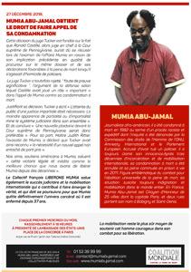 Tract « Une nouvelle chance pour Mumia ! » (A4 – Février 2019)