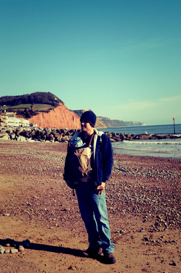 Beach stroll in Sidmouth, Devon by Mum in a nutshell