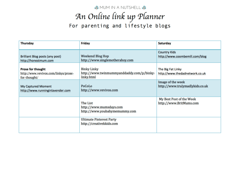 link up planner updated 2