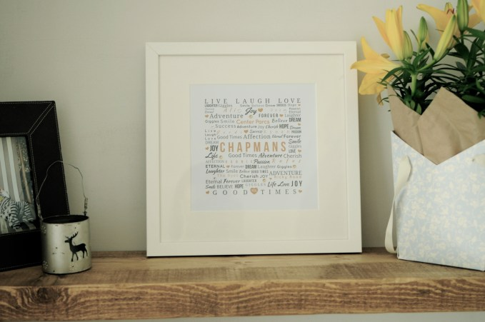 A lush personalised wedding gift, this typography print shows you've given some serious thought to the lucky recipient.
